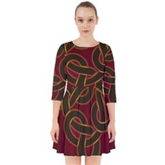 Beautiful Art Pattern Smock Dress
