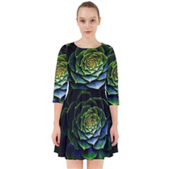Nature Desktop Flora Color Pattern Smock Dress