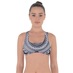 Graphic Design Round Geometric Got No Strings Sports Bra by Nexatart
