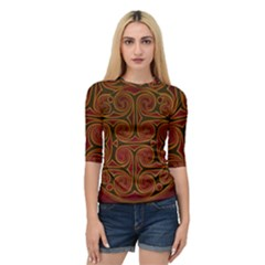 Beautiful Art Pattern Quarter Sleeve Raglan Tee by Nexatart