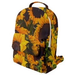 Sunflowers Flap Pocket Backpack (small) by bloomingvinedesign
