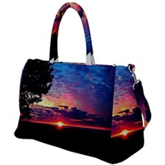 Sunrise Lakeshore Duffel Travel Bag by bloomingvinedesign