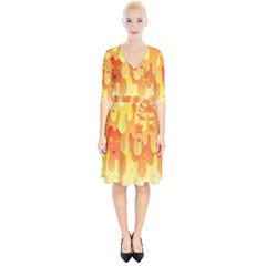 Candy Corn Slime Wrap Up Cocktail Dress