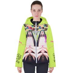 Designed By Revolution Child  lime Juice  Women s Hooded Puffer Jacket