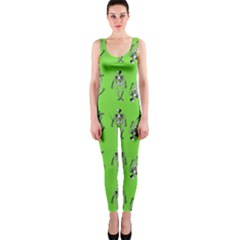 Skeleton Green One Piece Catsuit