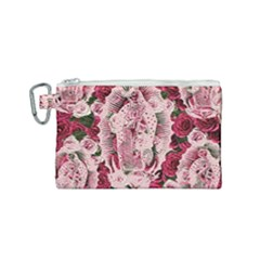 Guadalupe Roses Canvas Cosmetic Bag (small) by snowwhitegirl