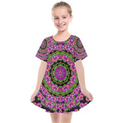Flowers And More Floral Dancing A Power Peace Dance Kids  Smock Dress by pepitasart