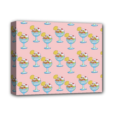 Ice Cream Sundae Pink Deluxe Canvas 14  X 11  (stretched) by snowwhitegirl