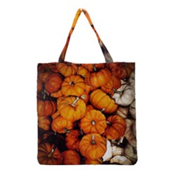 Pile Of Tiny Pumpkins Grocery Tote Bag by bloomingvinedesign