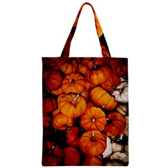Pile Of Tiny Pumpkins Zipper Classic Tote Bag by bloomingvinedesign