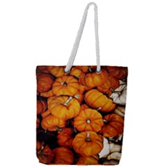 Pile Of Tiny Pumpkins Full Print Rope Handle Tote (large) by bloomingvinedesign