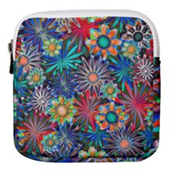 Tropical Daisies Mini Square Pouch by bloomingvinedesign
