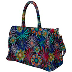 Tropical Daisies Duffel Travel Bag by bloomingvinedesign
