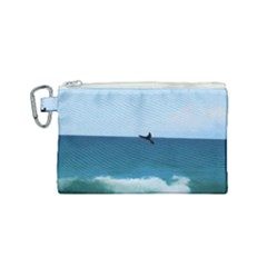 Whales Tail Canvas Cosmetic Bag (small) by bloomingvinedesign