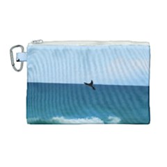 Whales Tail Canvas Cosmetic Bag (large) by bloomingvinedesign