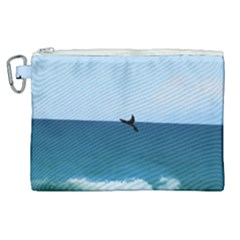 Whales Tail Canvas Cosmetic Bag (xl) by bloomingvinedesign