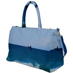 Whales Tail Duffel Travel Bag by bloomingvinedesign