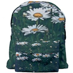White Daisy Field Giant Full Print Backpack by bloomingvinedesign