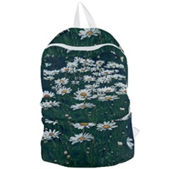 White Daisy Field Foldable Lightweight Backpack by bloomingvinedesign