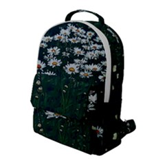 White Daisy Field Flap Pocket Backpack (large) by bloomingvinedesign