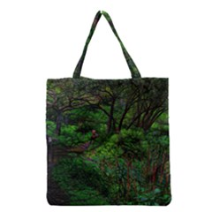 Wilderness Crossing Grocery Tote Bag by bloomingvinedesign