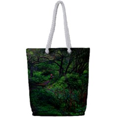 Wilderness Crossing Full Print Rope Handle Tote (small) by bloomingvinedesign
