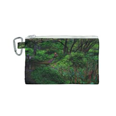 Wilderness Crossing Canvas Cosmetic Bag (small) by bloomingvinedesign