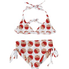 Kawaii Jam Jar Pattern Kids  Classic Bikini Set by snowwhitegirl