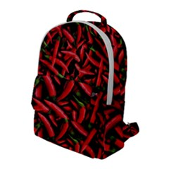 Red Chili Peppers Pattern Flap Pocket Backpack (large) by bloomingvinedesign