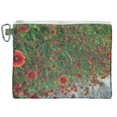 Orange Flower Garden Canvas Cosmetic Bag (xxl) by bloomingvinedesign
