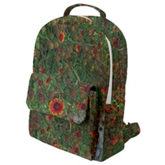 Orange Flower Garden Flap Pocket Backpack (small) by bloomingvinedesign