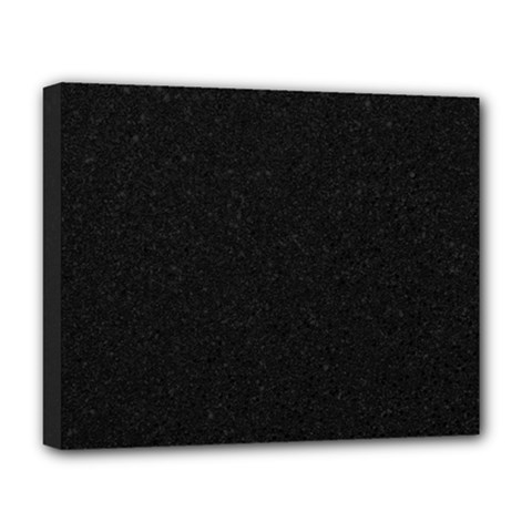 Black Glitter Deluxe Canvas 20  X 16  (stretched)