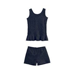 Black Glitter Kid s Boyleg Swimsuit