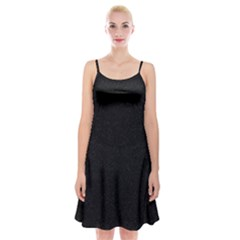 Black Glitter Spaghetti Strap Velvet Dress