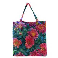 Warm Fall Mums Grocery Tote Bag by bloomingvinedesign