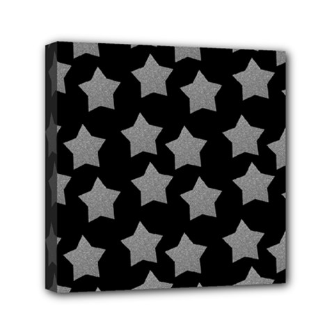 Silver Starr Black Mini Canvas 6  X 6  (stretched)