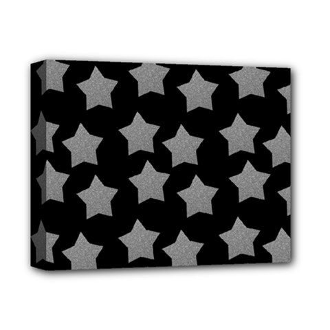 Silver Starr Black Deluxe Canvas 14  X 11  (stretched)