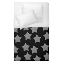 Silver Starr Black Duvet Cover (single Size)