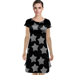 Silver Starr Black Cap Sleeve Nightdress