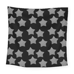 Silver Starr Black Square Tapestry (large)