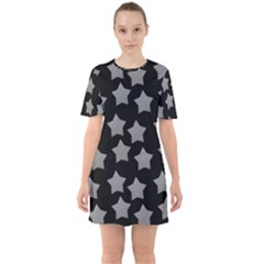 Silver Starr Black Sixties Short Sleeve Mini Dress