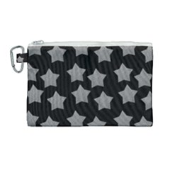 Silver Starr Black Canvas Cosmetic Bag (large)