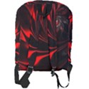 Red Black Abstract Curve Dark Flame Pattern Full Print Backpack View2
