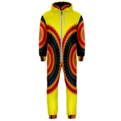 Art Decoration Wallpaper Bright Hooded Jumpsuit (men)