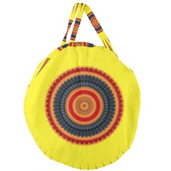 Art Decoration Wallpaper Bright Giant Round Zipper Tote