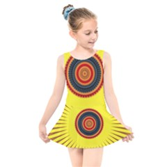 Art Decoration Wallpaper Bright Kids  Skater Dress Swimsuit