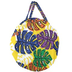 Design Decoration Decor Pattern Giant Round Zipper Tote