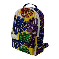 Design Decoration Decor Pattern Flap Pocket Backpack (large)