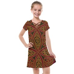 Beautiful Art Pattern Kids  Cross Web Dress