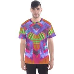 Glitch Glitch Art Grunge Distortion Men s Sports Mesh Tee by Nexatart